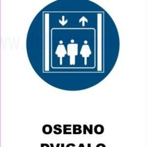 Opozorilni znaki obveze osebno dvigalo 2