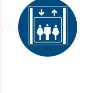 Opozorilni znaki obveze osebno dvigalo