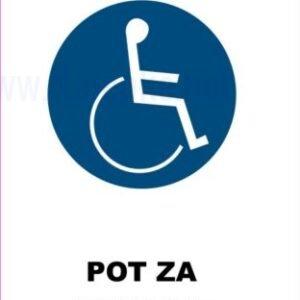 Opozorilni znaki obveze pot za invalide 2