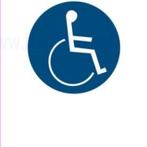Opozorilni znaki obveze pot za invalide