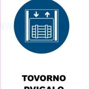 Opozorilni znaki obveze tovorno dvigalo 2