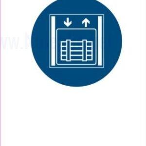 Opozorilni znaki obveze tovorno dvigalo