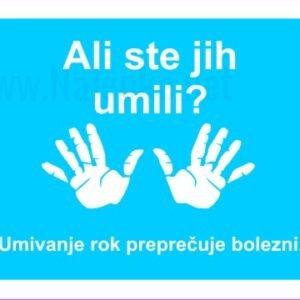 Opozorilni znaki covid Umivanje rok preprečuje bolezni