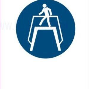 Opozorilni znaki obveze uporabljajte prehod