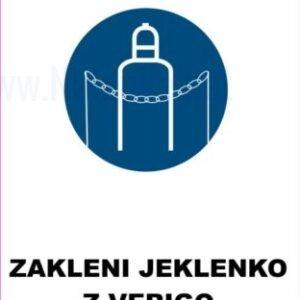 Opozorilni znaki obveze zakleni jeklenko z verigo 2