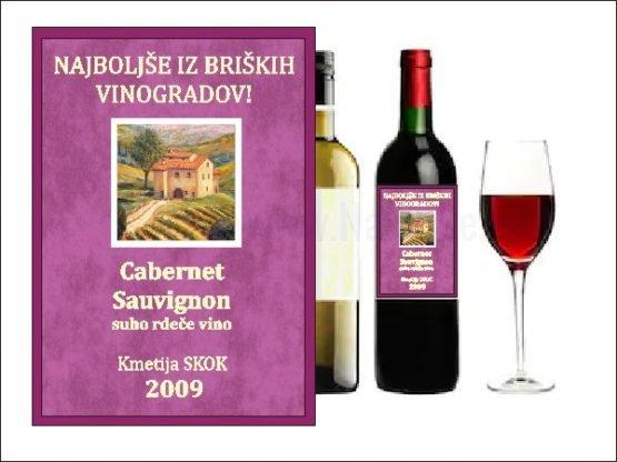 Etikete po naročilu Nalepke za vino