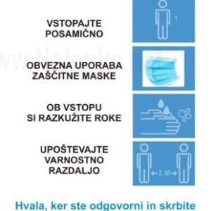 Opozorilni znaki covid Navodila za stranke -covid-19