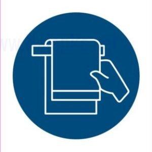 Opozorilni znaki covid Obvezna uporaba brisače 2
