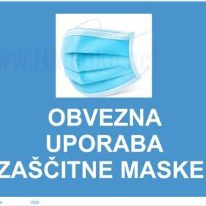Opozorilni znaki covid Obvezna uporaba zaščitne maske -covid-19