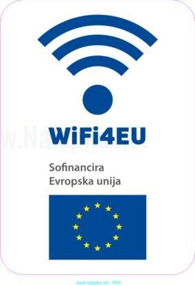 razno Emblem WiFi4EU – nalepka 2