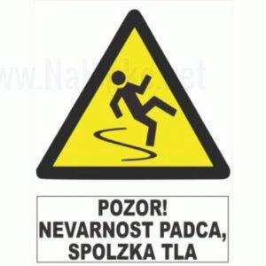 Opozorilni znaki Pozor! Nevarnost padca,spolzka tla