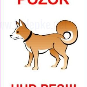razno Pozor hud pes 1