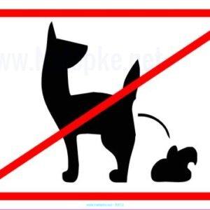 razno Prepoved kakanja za pse