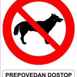 razno Prepovedan dostop za živali